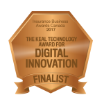 Finalist: The Keal Technology Award for Digital Innovation Insurance Business Awards 2017